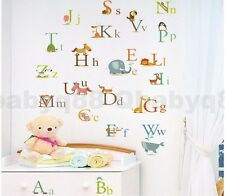 26 Animals Alphabet Wall decal Removable stickers educational decor kids nursery