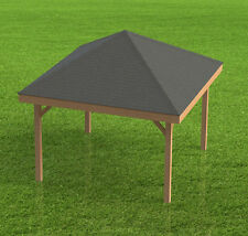 16' x 16' Square Gazebo with open sides Building Plans  - Perfect for Hot Tubs