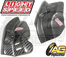 LightSpeed Carbon Engine Case Guard Left Right For Honda CRF 250X 2004-2012 New