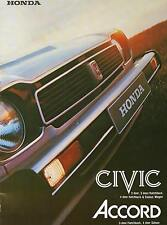 1978 HONDA Civic & Accord - 12 Page Brochure -  NOS