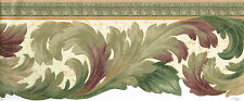 "Victorian Die-Cut Burgundy Green Gold 6 3/4"" Molding Wallpaper, Wall, bordeR"