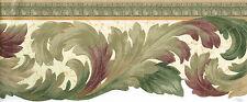 "Victorian Die-Cut Burgundy Green Gold 6 3/4"" Molding Wallpaper, Wall, bordeR"