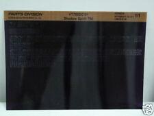 Microfiche Honda Fiche for 2001 VT750DC Shadow Spirit