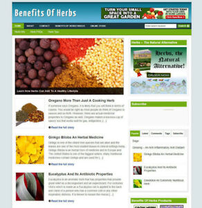 BENEFITS OF HERBS AFFILIATE STORE WITH MULTI BANNERS + DOMAIN & HOSTING
