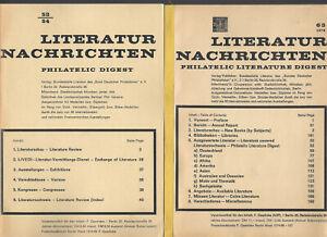 Literatur-Nachrichten Bd.53/54 bis  84 (1984),1990, 1991, 1997-2001 (30 Bände)