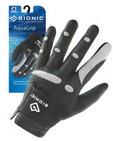 Bionic Golf Glove - AquaGrip - Mens Left Hand - Black - Wet Weather - Large
