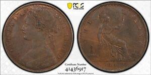 1862 Great Britain Penny - PCGS AU-58