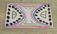 LAMINATED DECORATIVE INDEX CARD, Original Drawing, Colorful, Unique, Abstract
