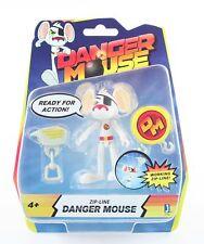"""DANGER MOUSE toy 3"""" DM zip-line action figure dangermouse CBBC - NEW!"""