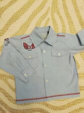 Guess Baby Boy Shirt Pale Blue, Size 18 Months