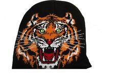 Bonnet à tête de tigre  mixte ( 100% acrylique )  ( Motif de face uniquement )a2