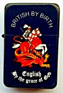 ENGLISH Patriotic  Petrol Lighter in  black velvet pouch.