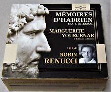 9 CD box set MEMOIRES D'HADRIEN by MARGUERITE YOURCENAR Robin Renucci, audiobook