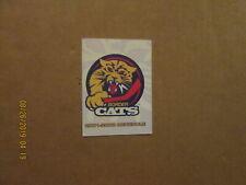 Uhl Port Huron Border Cats Vintage 2001-2002 Team Logo Hockey Pocket Schedule