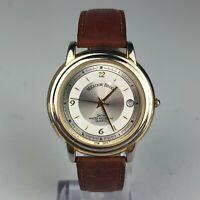 Meadow Brook Mens Brown Leather Date Indicator Vintage watch