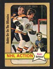 1972-73 OPC BOBBY ORR #58 NHL ACTION VG-EX (REF 11074)
