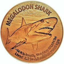 1 oz Copper Round - Megalodon