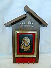 """Egyptian Key Holder Wood Copper Pharaoh Dancer Design 9"""" X 4.5"""". Sale"""