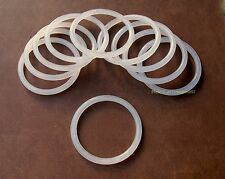 "25 Retail Store Thick Acrylic Scarf and Belt Rings Hangers 3.5"" [9 cm] OD"