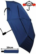 COLLAR AND CUFFS LONDON - WINDPROOF STRONG AUTOMATIC COMPACT UMBRELLA - RRP £50