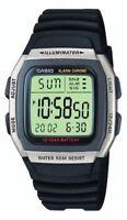 Genuine Casio Men's Quartz Watch Black Resin Strap 10 Year Battery Life Free P&P