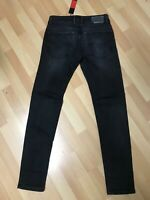NWD MENS Diesel TROXER Stretch Denim RA468 BLACK Slim W29 L30 H6 RRP£150