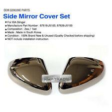 OEM Side Mirror Cover LH RH 2EA Dark Black Chrome for KIA 2017 2018 Stinger