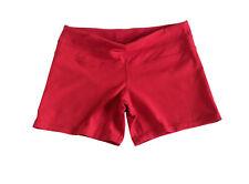 Lululemon Red Groove Short Shorts Yoga Gym Run Luon Stretch Leggings Pants Sz 10
