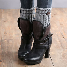 1 Pair Knitted Leg Warmers Socks Boot Cover Xmas Black Friday