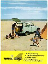 Renault 4 747cc 1961-63 UK Market Foldout Sales Brochure R4 R4L