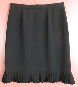 SK17486- EVAN PICONE Women 100% Polyester Pencil Skirt Pleat Decor Black 18W