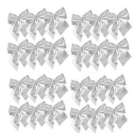 24Pcs Bows Christmas Tree Decoration Xmas Bowknot Party Garden Festival Ornament