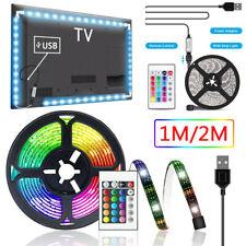 "6.56ft USB LED TV Backlight 5050 RGB Fairy Lights for 40-60"" TV Room Decoration"