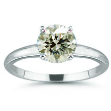 Moissanite Diamond Solitaire 925 Silver Ring 5.56 Ct Vvs1,=Round Cut Near White