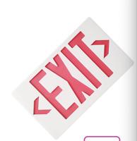 LED Emergency Exit Light Sign - Battery Backup UL924 Fire Red/GREEN Letter