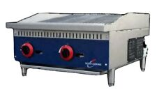 Rocket Cooking Rcrb24 24 Gas Countertop Radiant Charbroiler 70000 Btu