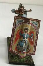 St.Petersburg. Amber. Medieval Warrior Behind the Shield. 54mm (by order).