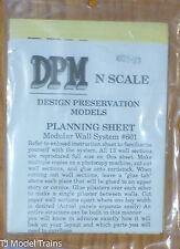 DPM Design Preservation Models #60191 Planning Sheet (N Scale)