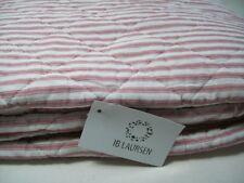 Ib Laursen Quilt rosa weiß 0799 07 Decke Überwurf Tagesdecke 130x180 cm Streifen