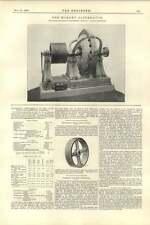 1892 mordey 250 KW ALTERNATORE 2 BOULTON's bordo in legno PULEGGIA
