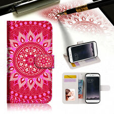 Hot Pink AZTEC TRIBAL Phone Wallet TPU Case Cover For OPPO F1S-- A004
