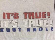 Kurt Angle Large T Shirt Wwf 2000 Original First Shirt Its True Gray Rare Wwe