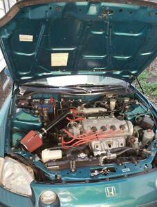 P2M Black Series Engine Hood Bonnet Dampers Set for Honda Civic Del Sol 92-98 EG
