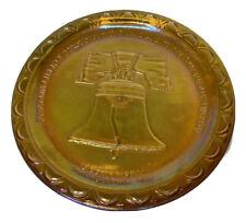 "8"" Amber Glass Plate - Liberty Bell Philadelphia Pennsylvania"