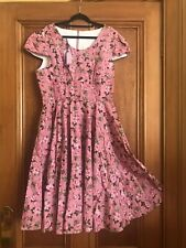 Bnwt Handmade Sz16 Vintage 50s Style Floral Dress By Polka Dot Polly - One Off!