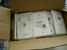LOT 50 WHITE COAXIAL WALL PLATE SINGLE OUTLET F81 CONNECTOR