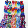 10/50Pcs Bulk Lots Colorful Braid Friendship Cords Strand Bracelet Braided Rope
