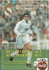 PROGRAMA BOLETÍN REAL MADRID-OVIEDO 95-96 SANTIAGO BERNABEU