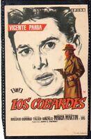 Cine Programa de Mano Los Cobardes con Vicente Parra (DM-519)