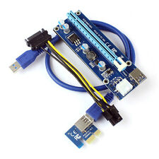 PCI-E Express 1x 4x 8x 16x Extender Riser Card Adapter 6Pin DC-DC Power Cable
